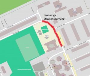 Straßensperrung Stand 21.08.2014